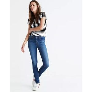 """Madewell   Tall 9"""" Mid Rise Skinny Jeans in Patty Wash"""